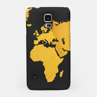 Thumbnail image of Golden World Map - Black Background Samsung Case, Live Heroes