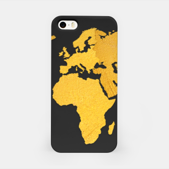 Thumbnail image of Golden World Map - Black Background iPhone Case, Live Heroes