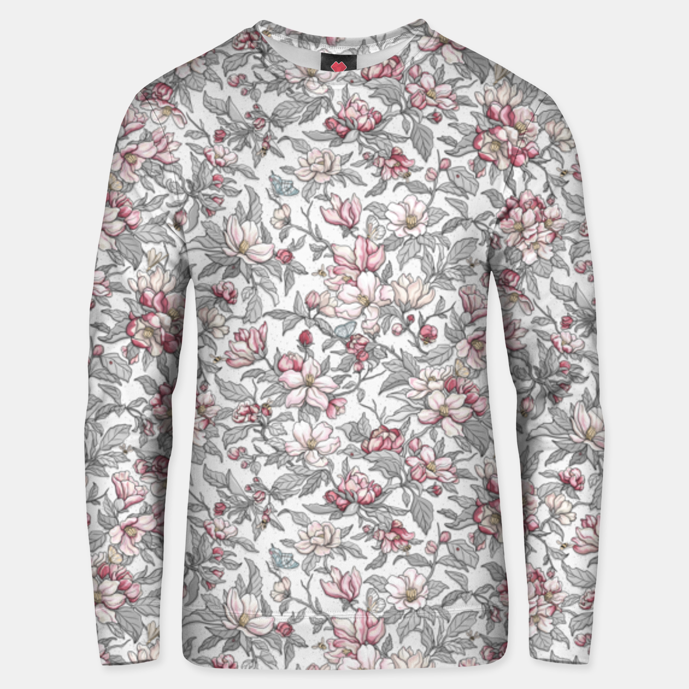Foto Busy Day in Spring Apple Garden  Unisex sweater - Live Heroes