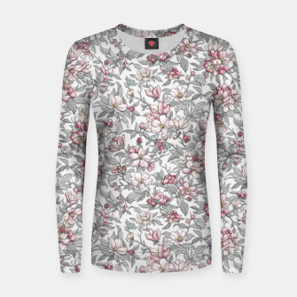Thumbnail image of Busy Day in Spring Apple Garden  Women sweater, Live Heroes
