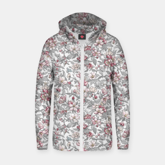 Thumbnail image of Busy Day in Spring Apple Garden  Zip up hoodie, Live Heroes