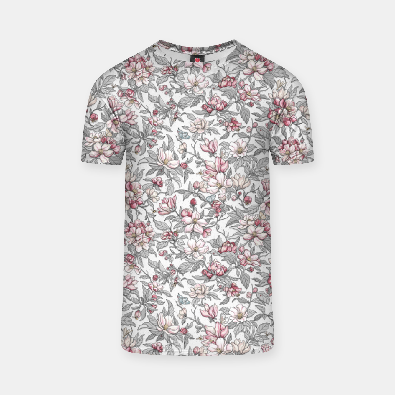Foto Busy Day in Spring Apple Garden  T-shirt - Live Heroes