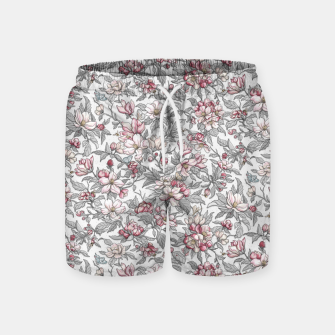 Busy Day in Spring Apple Garden  Swim Shorts Bild der Miniatur
