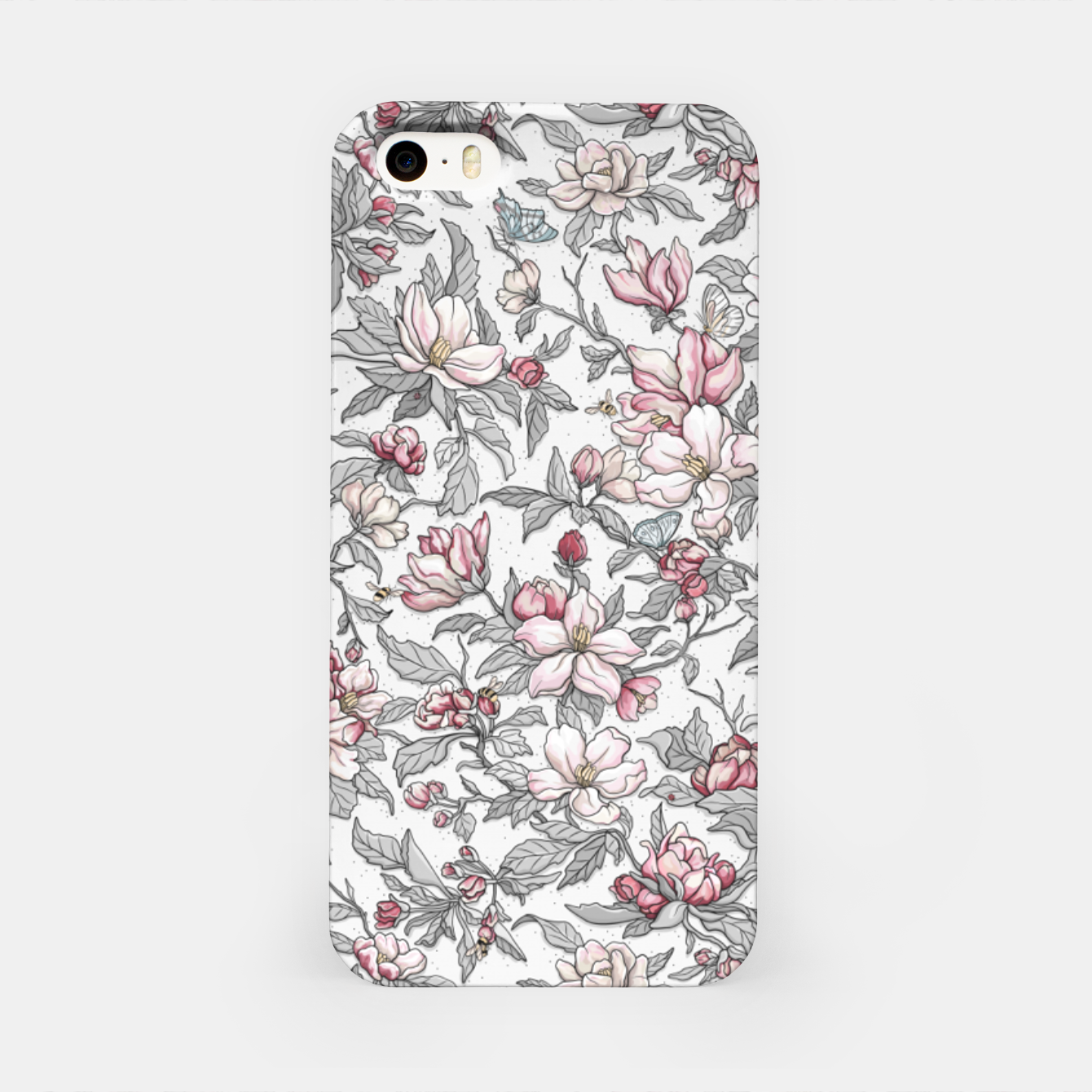 Foto Busy Day in Spring Apple Garden  iPhone Case - Live Heroes