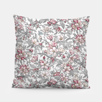 Busy Day in Spring Apple Garden  Pillow Bild der Miniatur