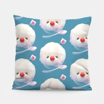 Thumbnail image of Snow Ice Pattern Pillow, Live Heroes
