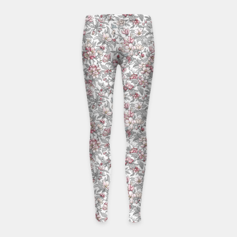 Busy Day in Spring Apple Garden  Girl's leggings Bild der Miniatur