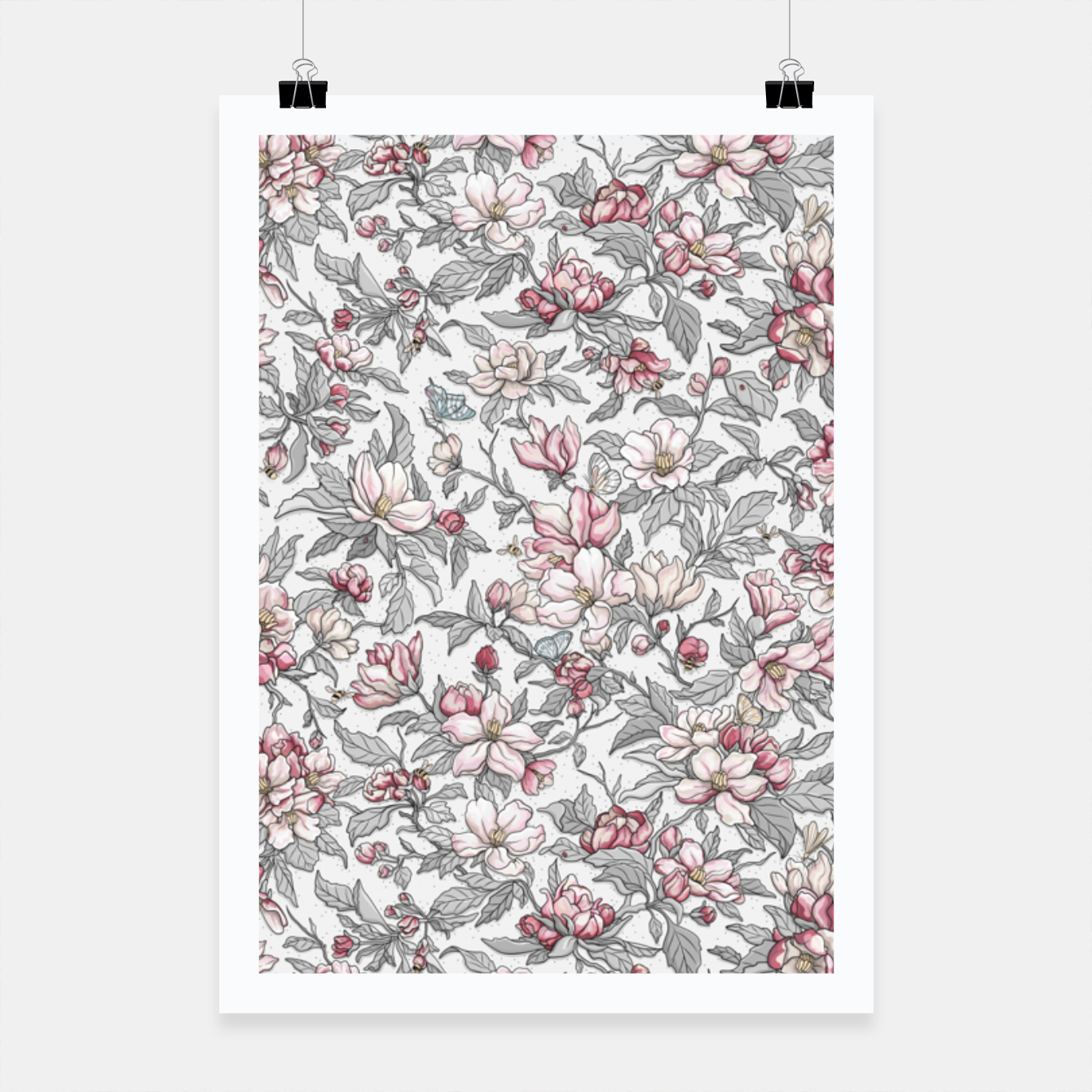 Foto Busy Day in Spring Apple Garden  Poster - Live Heroes