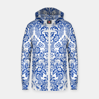 Blue Royal Zip up hoodie Bild der Miniatur