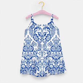 Blue Royal Girl's dress miniature