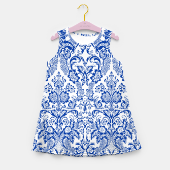 Miniatur Blue Royal Girl's summer dress, Live Heroes