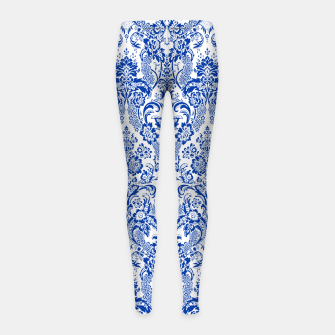 Thumbnail image of Blue Royal Girl's leggings, Live Heroes