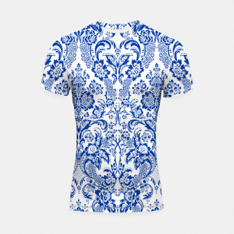 Thumbnail image of Blue Royal Shortsleeve rashguard, Live Heroes