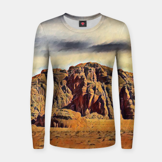 Thumbnail image of mountains on desert Bluza damska, Live Heroes