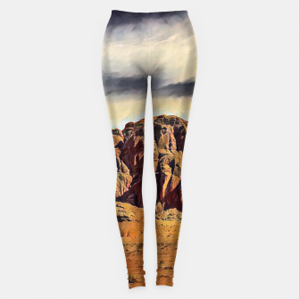 Miniatur mountains on desert Legginsy, Live Heroes