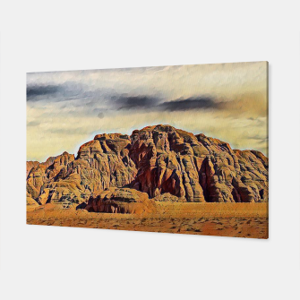Miniatur mountains on desert Canvas, Live Heroes