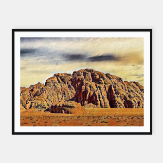 Thumbnail image of mountains on desert Plakaty w ramie , Live Heroes