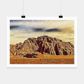 Miniatur mountains on desert Plakat, Live Heroes