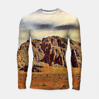 Thumbnail image of mountains on desert Rashguard długi rękaw, Live Heroes