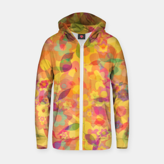 Spring Leaves Zip up hoodie thumbnail image
