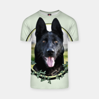 Thumbnail image of Black German Shepherd - Graphic Style T-Shirt, Live Heroes