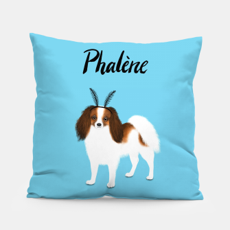Phalène (Blue) Pillow miniature