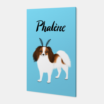 Phalène (Blue) Canvas miniature