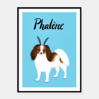 Phalène (Blue) Framed poster miniature