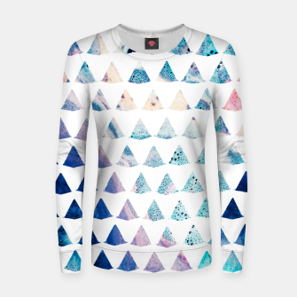 Thumbnail image of Watercolor Geometry Women sweater, Live Heroes