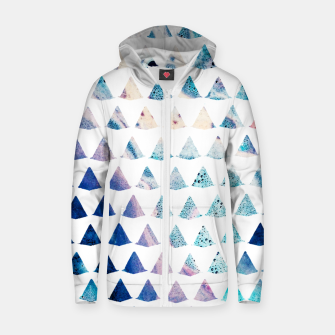 Thumbnail image of Watercolor Geometry Zip up hoodie, Live Heroes