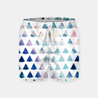 Thumbnail image of Watercolor Geometry Swim Shorts, Live Heroes