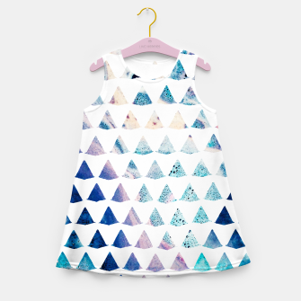 Thumbnail image of Watercolor Geometry Girl's summer dress, Live Heroes