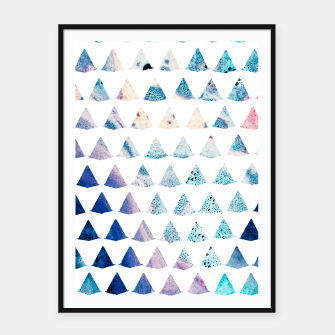 Watercolor Geometry Framed poster thumbnail image
