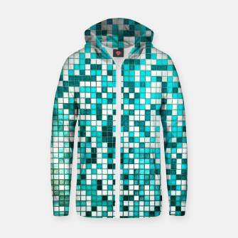 Thumbnail image of Pool Tiles Zip up hoodie, Live Heroes