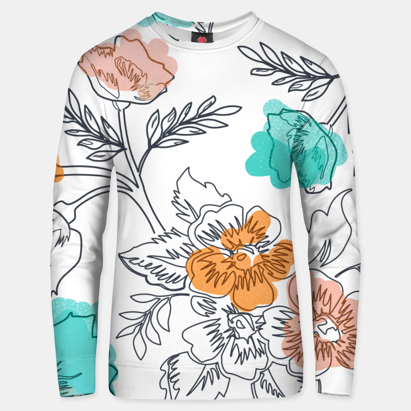 Image of Floral Thoughts Unisex sweater - Live Heroes