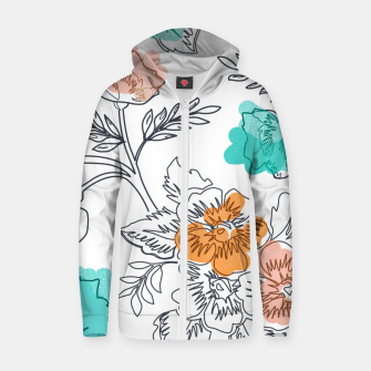 Thumbnail image of Floral Thoughts Zip up hoodie, Live Heroes