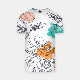 Thumbnail image of Floral Thoughts T-shirt, Live Heroes