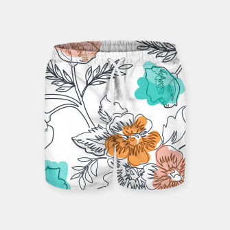 Thumbnail image of Floral Thoughts Swim Shorts, Live Heroes