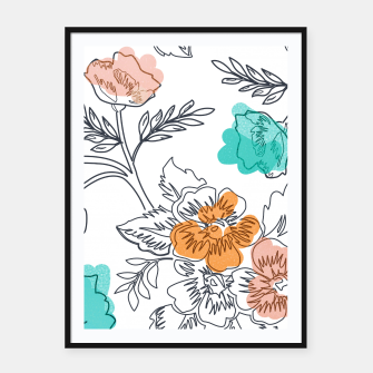 Floral Thoughts Framed poster thumbnail image