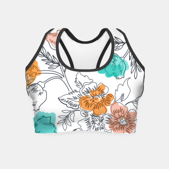 Thumbnail image of Floral Thoughts Crop Top, Live Heroes
