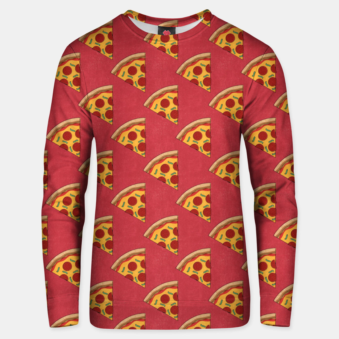 Image of FAST FOOD / Pizza - pattern Unisex sweater - Live Heroes