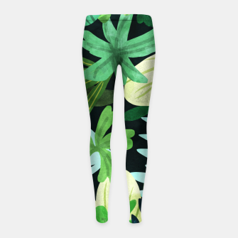 Thumbnail image of Rainforest II Girl's leggings, Live Heroes