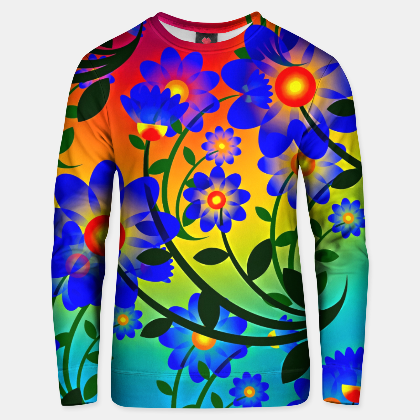 Image of Abstract Floral Unisex sweater - Live Heroes