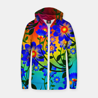Thumbnail image of Abstract Floral Zip up hoodie, Live Heroes