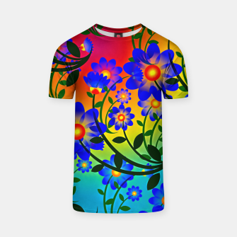 Thumbnail image of Abstract Floral T-shirt, Live Heroes