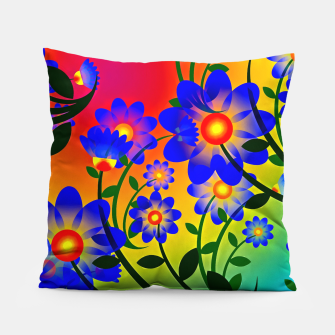 Thumbnail image of Abstract Floral Pillow, Live Heroes