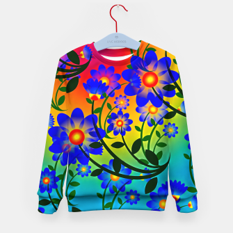 Abstract Floral Kid's sweater thumbnail image