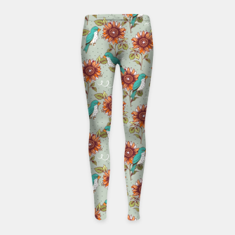 Thumbnail image of Bye Bye Birdie Girl's leggings, Live Heroes