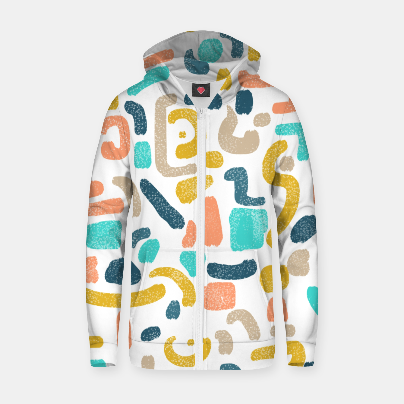 Image of Alphabet Soup Zip up hoodie - Live Heroes