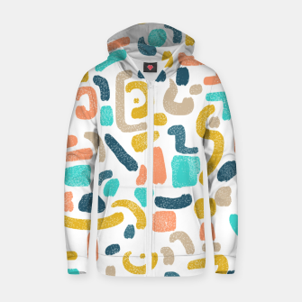 Thumbnail image of Alphabet Soup Zip up hoodie, Live Heroes